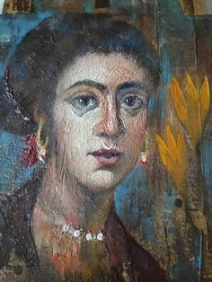 A New Face, An Ancient Technique (detail) by Aggeliki Papadomanolaki I Icon, New Face, Detail, Painting, Art, Art Background, Painting Art, Kunst, Paintings