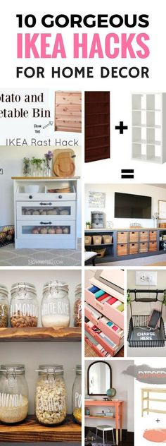 Ikea Hacks you don't want to miss out on! Great home decor ideas for the living room, kitchen, bedroom and more. You'll be able to make gorgeous looking items for your home for cheap but looks expensive! That's a HUGE WIN.