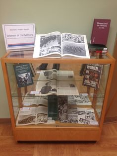 Women in the military library display