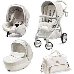 Young Versace Baby White Travel Set