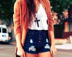 looks short cintura alta tumblr - Pesquisa Google