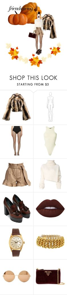 """""""November."""" by rueeee ❤ liked on Polyvore featuring Vivienne Westwood, Wolford, Yeezy by Kanye West, Cinq à Sept, Ann Demeulemeester, Lime Crime, Rolex, Buccellati, Victoria Beckham and Prada"""