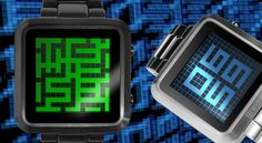 LCD Watch Design with Colored Maze Display, Time, Date & Alarm, Animation: Kisai Maze