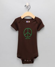 Take a look at the Uncommonly Cute Brown 'World Peas' Bodysuit - Infant on #zulily today!