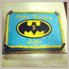 batman sheet cakes