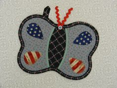 Butterflies Potholders PAIR Cozy Kitchen by AllasOriginals on Etsy