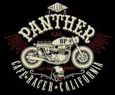 blue panthers davide biondi long john blog italy graphic designer bikers riders rider motors motorcycles paintings jeans denim sweat shirts ...