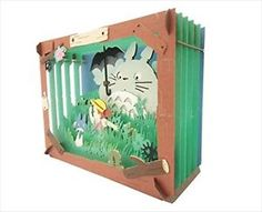 Collectible Totoro Anime Items for sale Paper Toys, 3d Paper, Paper Crafts, Anime Crafts, Paper Artwork, My Neighbor Totoro, Box Art, Studio Ghibli, Paper Cutting