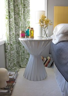 Weekend Project: The $30 DIY Nightstand by Katie Steuernagle via Apartment Therapy. #DIY #nightstand