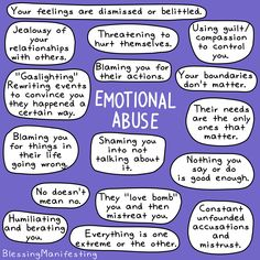 Emotional abuse is real and it has an enormous effect on people. Just because someone isn't hitting you doesn't mean they are not abusing… Signs Of Emotional Abuse, Mental And Emotional Health, Mental Health Matters, Mental Health Awareness, Emotional Intelligence, Emotional Awareness, Emotional Healing, Relationship Hurt, Coaching