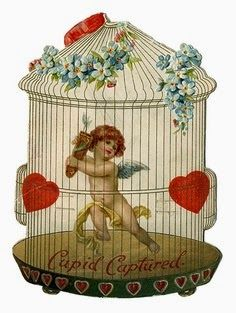 Victorian Valentines - Cherubs - Wiki of The Public Library of Cincinnati and Hamilton County.an incredible array of Victorian cards! Valentine Cupid, Valentine Images, My Funny Valentine, Vintage Valentine Cards, Valentine Day Love, Vintage Greeting Cards, Vintage Ephemera, Vintage Postcards, Vintage Images