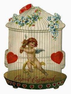"""""""Cupid Captured"""" ~ Vintage Valentine"""