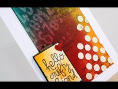 How-to video: Hello crafty friend - YouTube