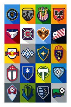 For Major League Soccer. Deconstructed Logos for all MLS Teams...