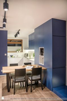 Apartament w Bielsku- Białej - zdjęcie od MWarchitekci blue kitchen | inspiration | design | home