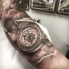 288 Best Compass Clock Map Tattoo Ideas Images In 2019 Map