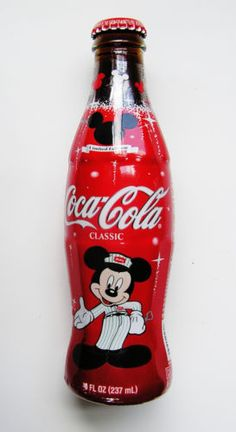 CLASSIC Coca-Cola Bottle DISNEY MICKEY MOUSE 75th INSPEARATIONS - Full Contents<br/>Bottles - 35845