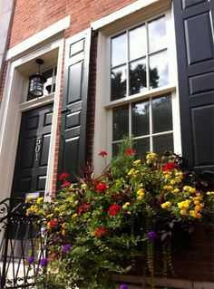 Beautiful Row House Curb Appeal in Philadelphia...would be great to mat and frame this pic!