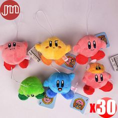 """Find More Movies & TV Information about New 30 PCS Super Mario Star Kirby Keychains Pendant Anime Juguetes Baby Dolls Collections 3"""" Peluche Plush Doll Kids Toys Gift,High Quality gift toys for kids,China toy karaoke Suppliers, Cheap gifts ramadan from M&J Toys Global Trading Co.,Ltd on Aliexpress.com"""