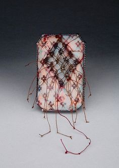 Alicia Jane Boswell, Salient 2008, Brooch, copper, Champleve enamel, sterling silver, cotton thread, stainless steel