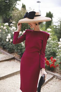 Classy Outfits, Chic Outfits, Dress Outfits, Elegant Outfit, Elegant Dresses, Girl Fashion, Fashion Dresses, Fashion Design, Wedding Hats For Guests