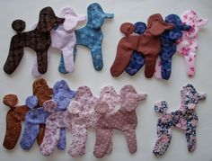 Poodle Appliques for Quilt blocks set of 12 Style 1 Lot by norrich, $24.98