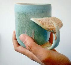 Whale mug by Annick Galimont http://annickgalimont.wixsite.com/ceramics/shop/!/Whale-Mug/p/57735200/category%3D0
