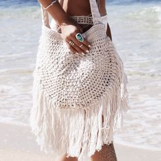 """New Cheap Bags. The location where building and construction meets style, beaded crochet is the act of using beads to decorate crocheted products. """"Crochet"""" is derived fro Mode Crochet, Bead Crochet, Crochet Top, Ponchos Boho, Style Bobo Chic, Ethno Style, Gypsy Style, Boho Gypsy, Diy Jewelry To Sell"""