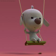 3d animation models: Scott. by Raphael Grosjean, via Behance