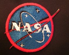 Nasa space patch iron on patch Pin And Patches, Iron On Patches, Space Patch, Nasa Space, Patch Design, Fashion Illustrations, Stitches, Fashion Beauty, Challenge