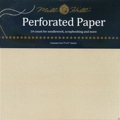 14 Count ECRU Mill Hill Perforated Paper  2 by CraftyCrossStitches