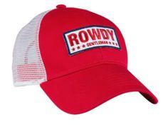 Rowdy White Bar Mesh Hat