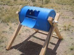 Rolling compost barrel