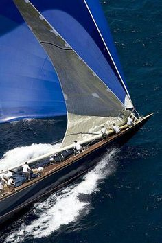 massive spinnaker on a J Class yacht