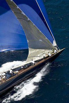 massive spinnaker on a J Class yacht