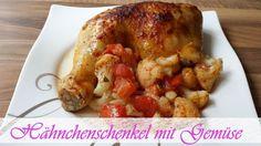 Jeannette's Low Carb Rezepte: Hähnchenschenkel mit Gemüse