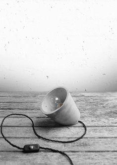 DIY lámpara de cemento