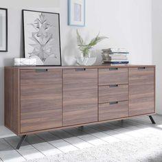 Wohnzimmer Sideboard Im Retro Design Nussbaum Jetzt Bestellen Unter: ...