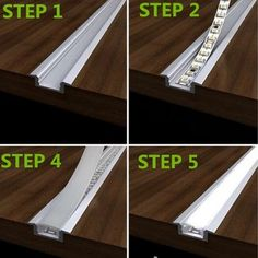 Led Strip Smd Real Led Neon 2015 12v Lights Fashion 25x2m 60 Pcs/m Aluminium Profile Convoy Bar Super Slim 8mm Channel Recessed Led Shelf Lighting, Staircase Lighting Ideas, Shelf Lights, Under Counter Lighting, Cove Lighting, Interior Lighting, Lighting Design, Design Case, Diy Led Light