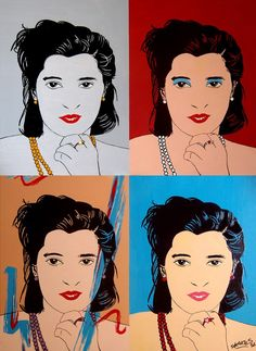 """4 JOHANNAS"" By Socrates Rizquez - Enamels on melamine. www.socrates-art.es"