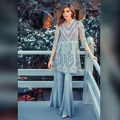 The Stunner Sadaf Kanwal @SadafKanwal wearing Sammy K.'s upcoming Luxury pret collection by @sammykofficial make up by @sarasalonandspa_ and photography by @jaffer.hasan We love this shot and the outfit of course! Available at their stores now!! #ModernPakistaniElites