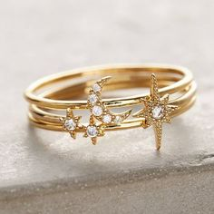 Celestial Stacking Rings
