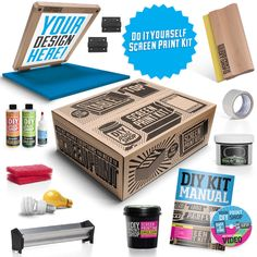 Wait, what?! This is soo awesome! DIY Screen Printing Starter Kit - Table Top Do It Yourself Screen Printing