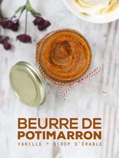 Beurre de potimarron à la vanille & sirop d'érable - Mango & Salt Vegan Desserts, Vegan Recipes, Cooking Recipes, Chutney, Mango Salt, Beurre Vegan, Vegan Sauces, Healthy Meals To Cook, Pie Cake