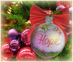 """""""Hope"""" Ornament / Christmas Ornament / Days of our Lives"""