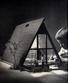 A-Frame Doll House, from Sunset Magazine, December 1961