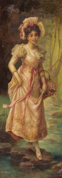 painting  Hans Zatzka, 1859-1949