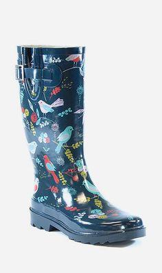 Navy Spritely Sparrow Rain Boot
