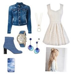 """""""Cute lace dress"""" by drey-harper on Polyvore featuring Camilla Elphick, Dsquared2, Betsey Johnson, Tory Burch and Kate Spade"""