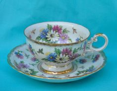Vintage Shafford Cup and Saucer  SALE, SALE, SALE...for the month of November we are offering a 20% discount on all Tea Cups and Saucers. Use coupon code:-TEATIME. $40.00